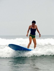 Surfing in Bagasbas, Daet, Camarines Norte
