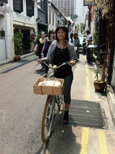 cycling to haji lane