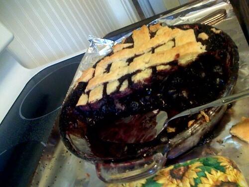 cherry pie, homemade crust