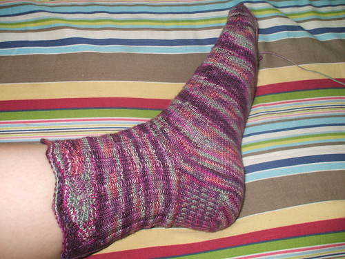 Friday Harbor sock sideways