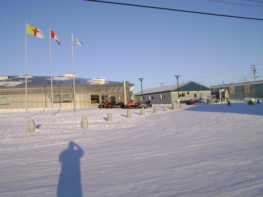 Hubby in Cambridge Bay