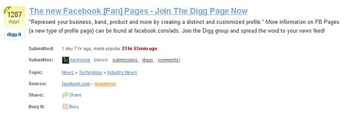 Kevin Rose Submits Facebook Groups to Digg too