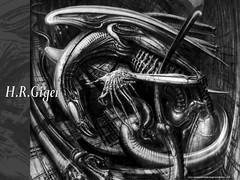 Alien, de Giger. Faça o download deste wallpaper - CLIQUE AQUI