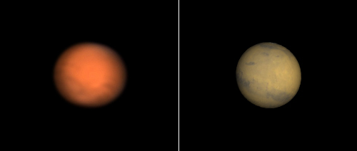 Mars on 1-3-08 Comparison