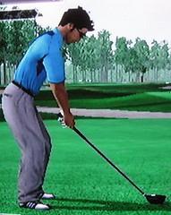 Virtual golfing Tim