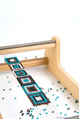 Beaded Bracelet on Loom