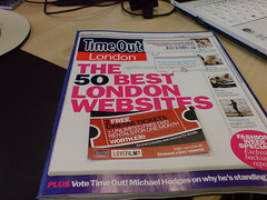 TimeOut London Magazine - cover story is 50 Be...