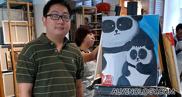 Me with my panda painting