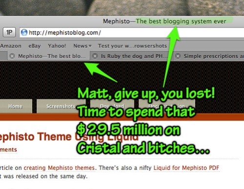 Mephisto the best blogging system ever