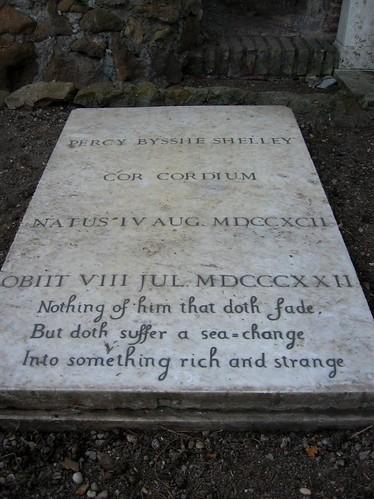 Percy Bysshe Shelleys grave.