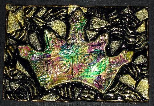 Polymer Clay Brocade Crown Plaque
