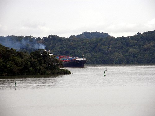 Nov 18 Chinese freighter in Gatun Lake
