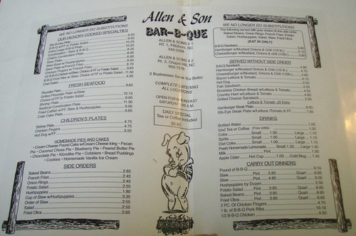 Allen & Son BBQ, Chapel Hill NC by you.