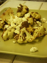 cauliflower with tapenade and feta