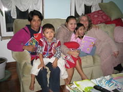 The family at our home, in the USA only about a month