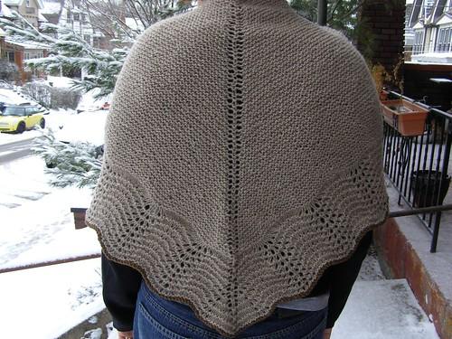 little garter shale shawl - back