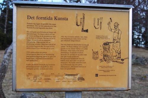 Fornminnesskylt vid Kunsta