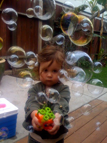 Ashby with a bubble gun.
