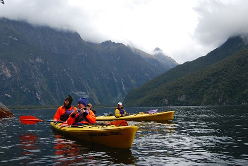 Kayaking Milford Sound by missbossy, on Flickr