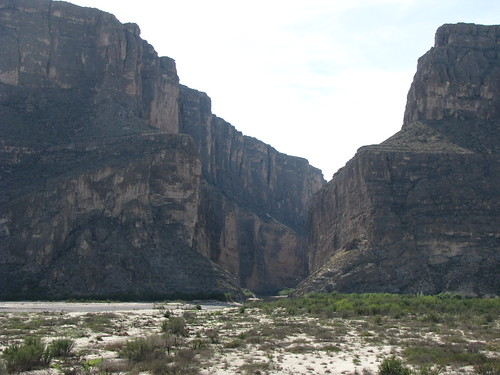So far away from Emory Peak two days ago, the mouth of Santa Elena Canyon looms large from the overlook