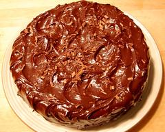 Flourless Chocolate Cake with Chocolate Glaze