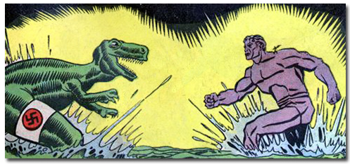 Clue Comics - The Giant vs Nazi Robot Dinosaur