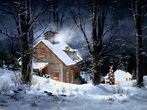 Snowy Cabin - Christmas 2008
