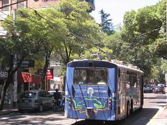 trolley allemand à Mendoza, aucun bruit, robuste et sieges en cuir brulant pour 75 centavos