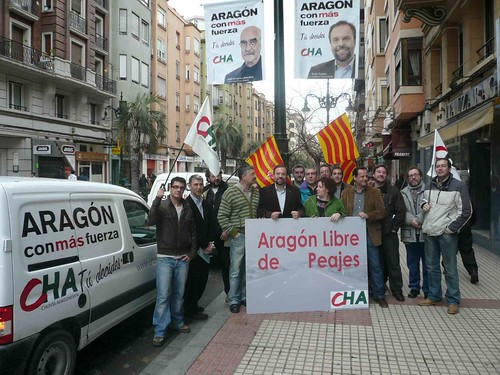 Salida del viaje Zaragoza-Fraga comparando la carretera y la autopista.