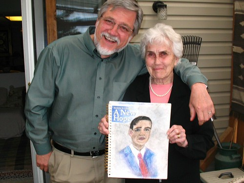 nan draws obama