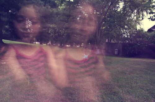 Fireflies blur