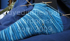 gusset heel sock 2 (by dyedinthewool)