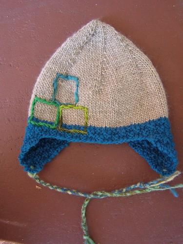 blockhead hat - flat