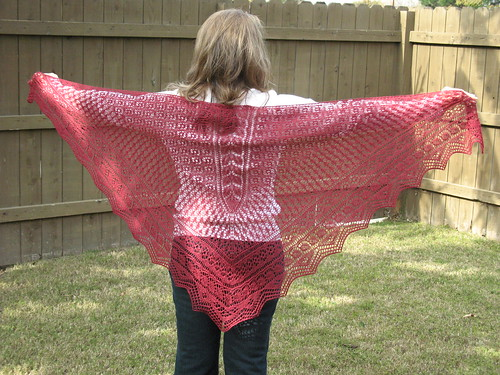 Garden Party Triangle Shawl
