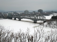 Frozen Ottawa river