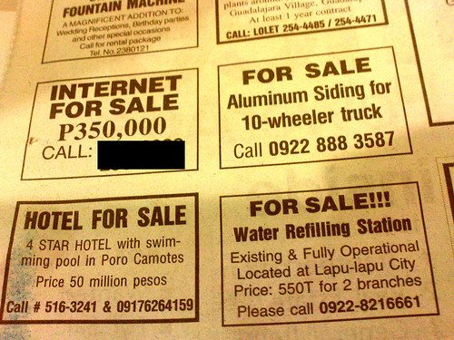 The Internet is for sale