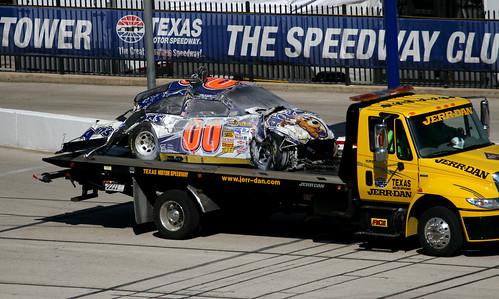 NASCAR - Rookie McDoweel - Accident - Car
