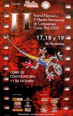 Afiche de Convocatoria II FENACO Cusco 2005