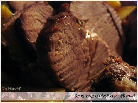Roast lamb in detail