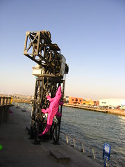 Art installation at Tel Aviv Port.