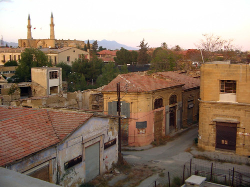 Roof view of the dead line in Nicosia, Cyprus
