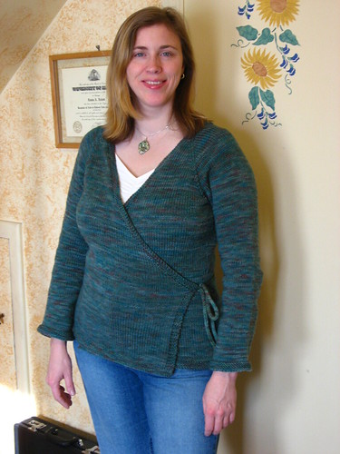 Neckdown Wrap Sweater
