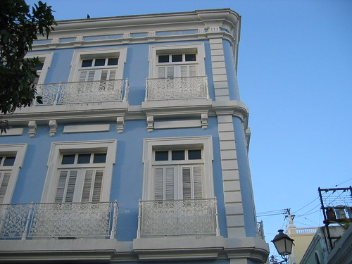 Blue building in Old San Juan