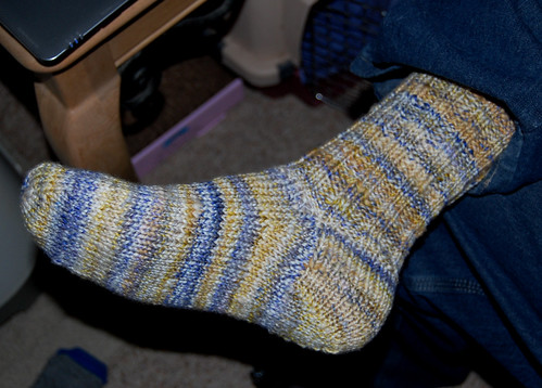 Travis' handspun sock
