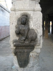 In the pillar of the Mandapam of the Thayar Shrine