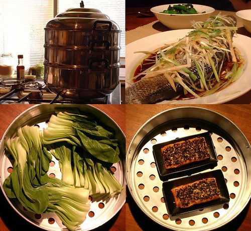 I love steamed vegetables and fish!