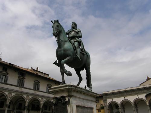 Firenze, statua equestre di Ferdinando I de' Medici