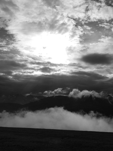 Sun Clouds and Mountain