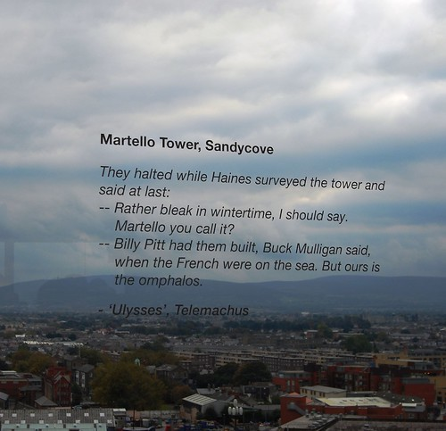 James Joyce's Dublin from the Guiness Factory Gravity Bar