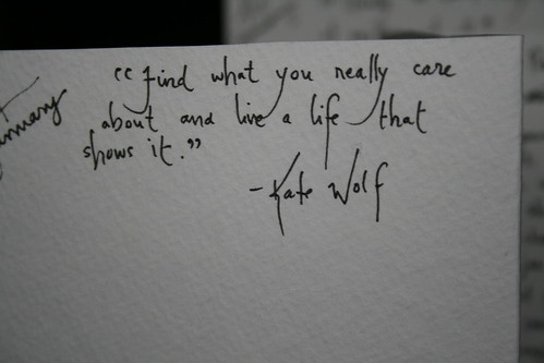 Kate Wolf Quote